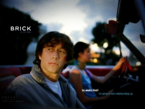 I'm trying to find the sweet spot between the movie Brick and YA tales of typical high school drama. Though it's hard to say no to a little Joseph Gordon-Levitt. Just look at that face.