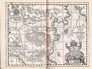 This map details the Kingdom of Wisdom in The Phantom Tollbooth.