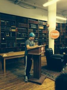 """You hear about this place. It's a legend. Then you come to Mecca.""--John Leguizamo at the Greenwich Village Stories launch reading (photo courtesy of Strand Bookstore)."