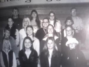 Literary magazine staff. I'm the second from the left in the front row.