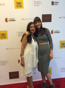 On the red carpet with Feminist Press author Ana Castillo.